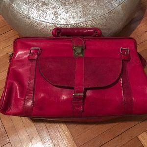 Bags - Artisan Pink leather weekend bag